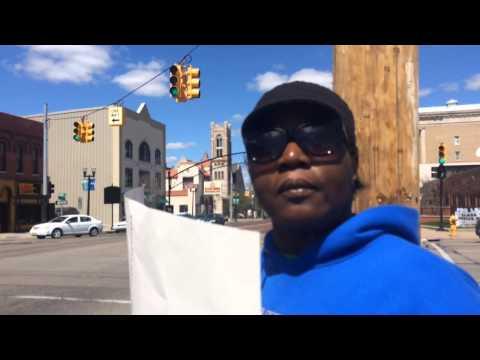 Gay Marriage Protestor In Flint