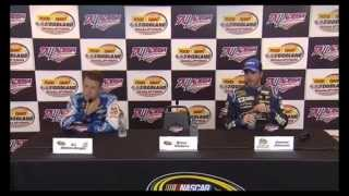 NSCS Video   AJ Allmendinger and Jimmie Johnson Qualifying Efforts for Geico 500 at Talladega
