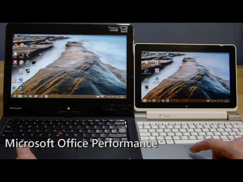 Ultrabook vs CloverTrail Convertible. Performance Comparison by Chippy