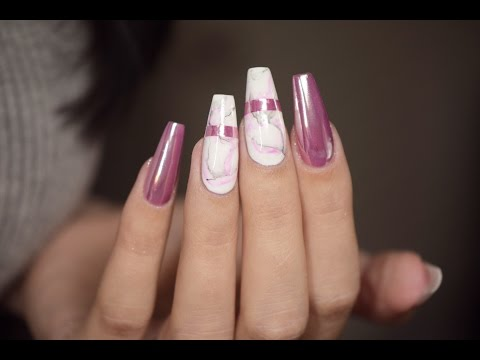 White Marble and Rose Gold Nails | April Ryan | Red Iguana