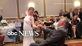 Video of bride dancing at wedding with ill father goes viral  from ABC News