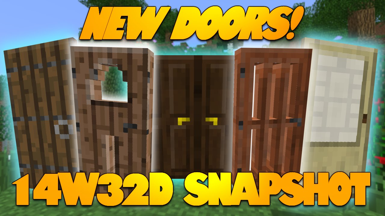 Too bad the Spruce Birch and Dark Oak doors do not have holes in them.