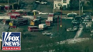 Police hold briefing on warehouse mass shooting in Illinois