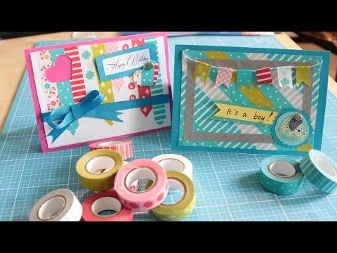 Diy Tuto Karten Mit Washi Tape Basteln Ideen