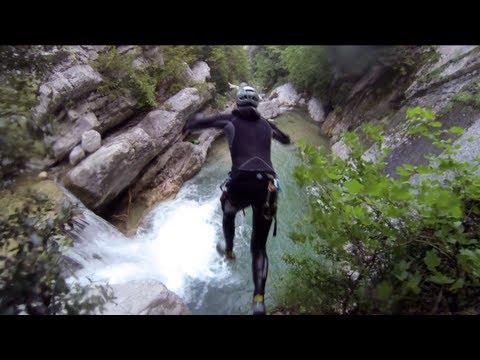 GoPro Hero3 : Canyoning en gros débit, Gour du Ray 2013
