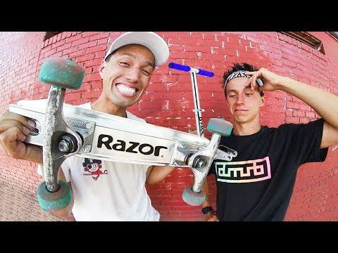 SCOOTER WITH SKATEBOARD TRUCKS! Feat. Jon Reyes