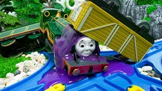 Thomas and Friends Tayo Bus Accidents Happen Slime Toy Trains for Kids
