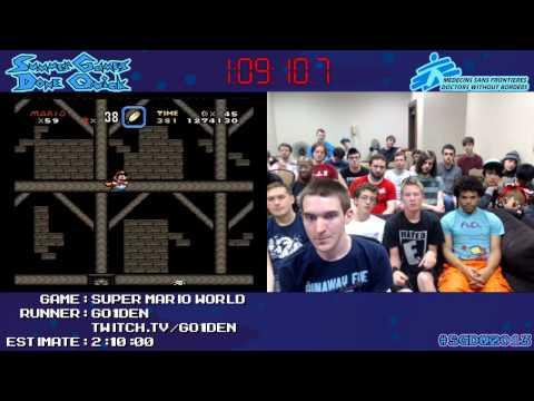 Super Mario World Speed Run (1:45:51) by Go1den #SGDQ 2013