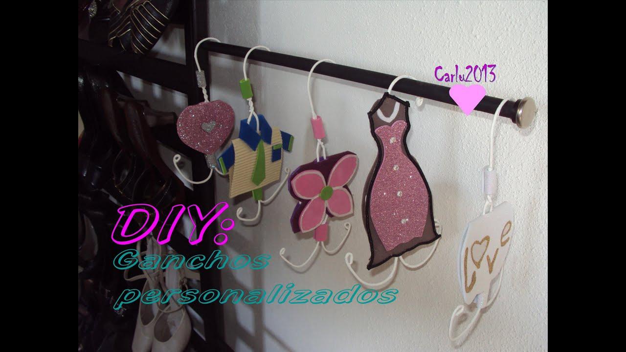 Diy decora tu cuarto ganchos personalizados carlu2013 for Disena tu habitacion