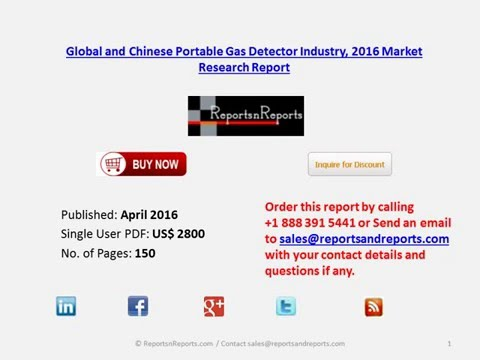Portable Gas Detector Market (Global and Chinese) Industry Development and Trends 2016-2021