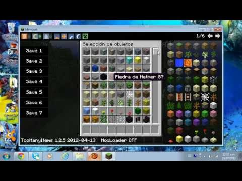 Como instalar too many items para minecraft 1.2.5 TUTORIAL