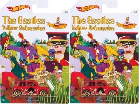 Hot Wheels 2016 Morris Mini Cooper Red The Beatles Yellow Submarine