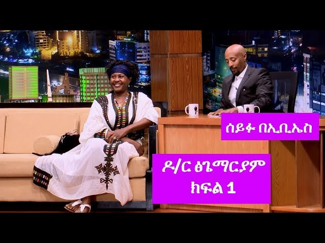 Seifu on EBS: Interview American Citizen Dr. Tsigemariam With Seifu Part 1