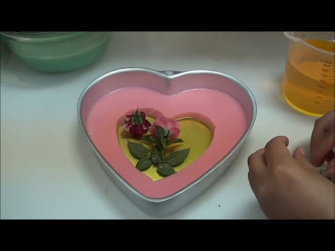 GELATINA CON RELLENO DE ROSAS NATURALES angycrisjavi