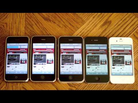 iPhone Speed and Camera Comparison Test (2G vs 3G vs 3GS vs 4 vs 4S) Music Videos
