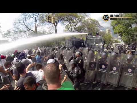 Paz en calle y batalla en universidad (UCV) 12M