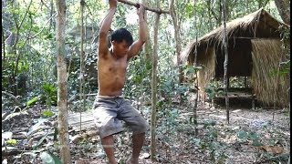 Primitive Technology, Making Swing in forest
