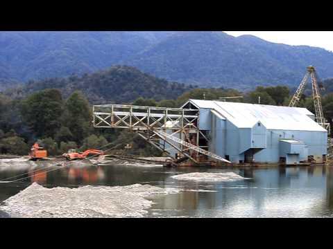 Grey River Floating Bucket Ladder Gold Dredge For Sale