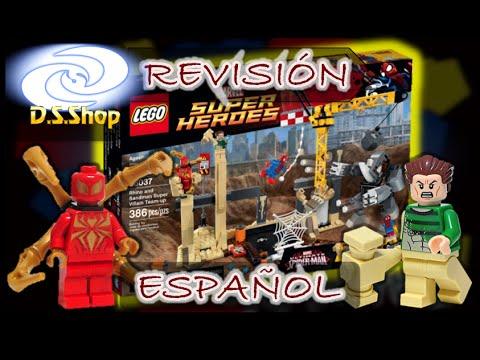 Lego Spiderman Set 76037 Rhino and Sandman Supervillain Team-up Lego Review en Español