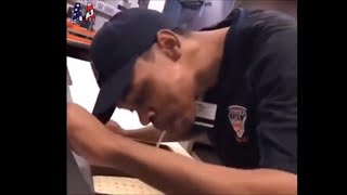 VIDEO: Comerica Park employee spitting on pizza for customers