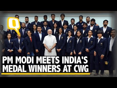 PM Narendra Modi Meets India's Medal Winners at CWG 2018 | The Quint
