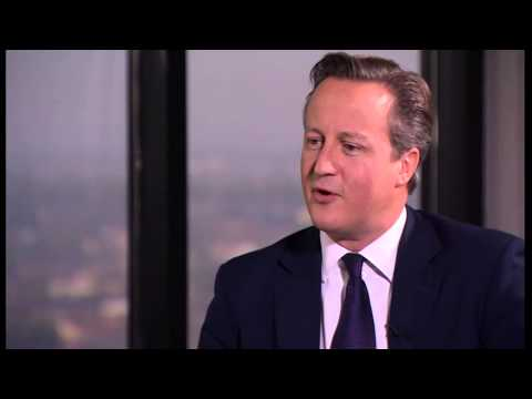 David Cameron chats to Evan Davis - Newsnight