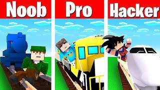 NOOB vs PRO vs HACKER: ESTAÇÃO DE TREM NO MINECRAFT!!