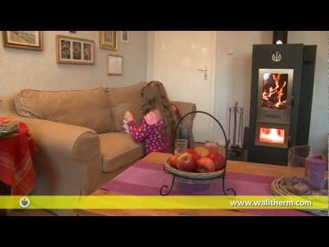 Walltherm indoor wood gasification boiler.wmv
