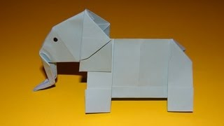 How To Make An Origami Elephant - Kirigami