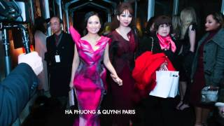 Quynh Paris va Ha Phuong fashion week 2015