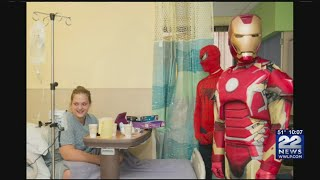 Chicopee firefighters dress up as superheroes to surprise patients
