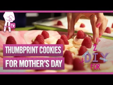 How to Make Pink Thumbprint Cookies - Perfect Gift for Mother's Day - 2 DIY For Ep. 20