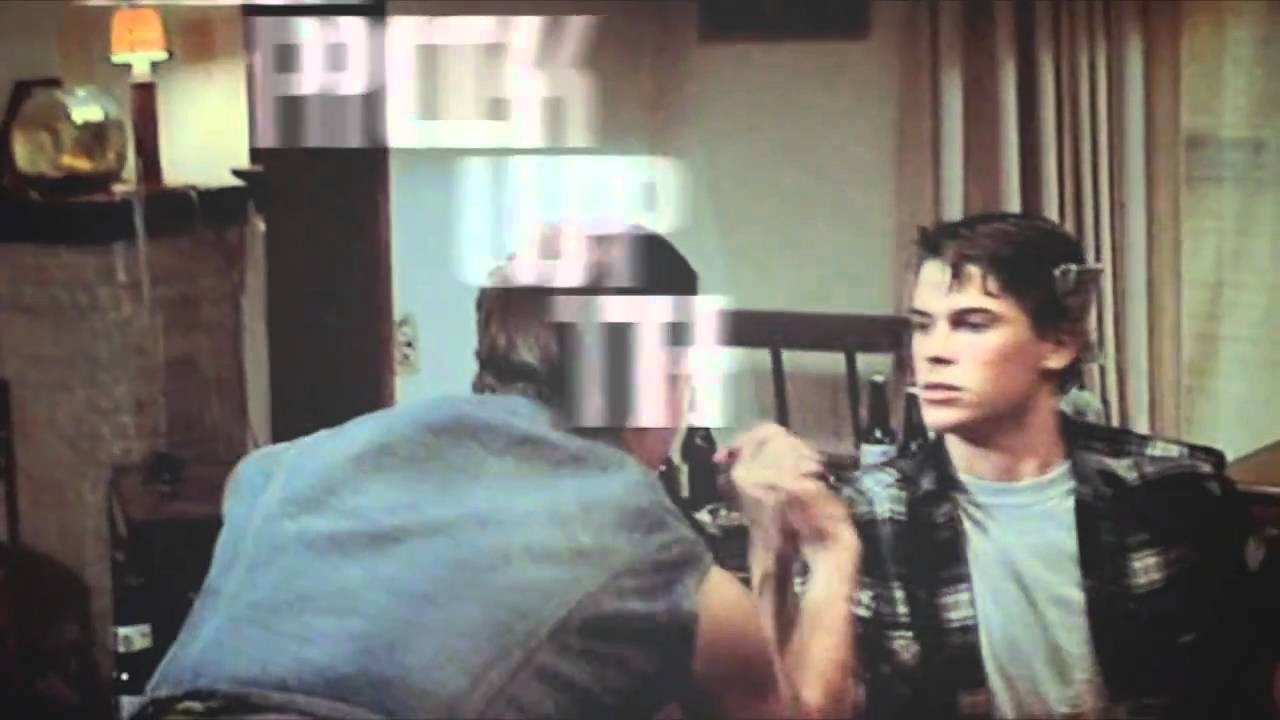 The Outsiders Rob Lowe Shower Sodapop Curtis -- Sexy Back
