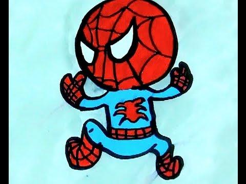 Draw Tokidoki Spiderman Marvel - YouTube