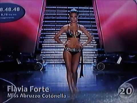 Flavia Forte,Miss Abruzzo Cotonella,at Miss Italia 2009.Bikini Catwalks