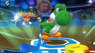 Mario Sports Mix Hockey #11 With Yoshi, Mario Vs Daisy, Wario At Waluigi Pinball (Hard)