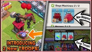 How 'WALL WREAKER' & BATTLE BLIMP' Works? | New 'SWAP TROOPS' Feature Coming With Siege Workshop!