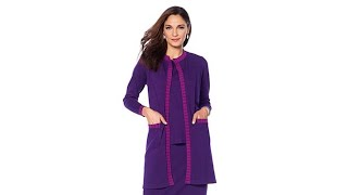 """Antthony """"Check Me Out"""" Contrast Trim Jacket and Knit To..."""