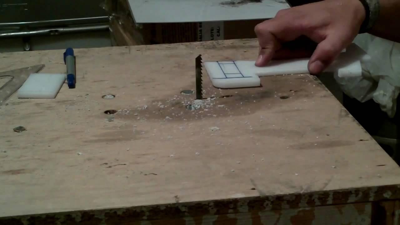Sierra de banco casera diy youtube - Como hacer una mesa abatible ...