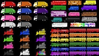 Vehicle Colors Collection - Learn Colors with Trains & Street Vehicles - The Kids' Picture Show