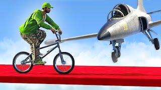 SUICIDAL PLANES vs. BMX BIKERS! (GTA 5 Funny Moments)