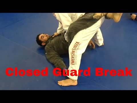 Closed Guard Break into Standing Pass - Emerson Souza - Long Island Brazilian Jiu Jitsu and MMA Image 1