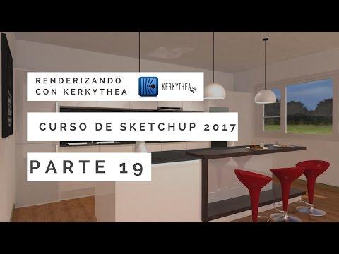 Curso de Sketchup 2017 - 19 - Renderizando con Kerkythea