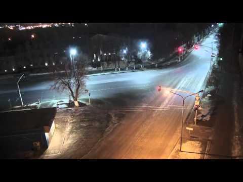 Вылетел с дороги г.Караганда перекресток Кривогуза-Чкалова 02.03.2016