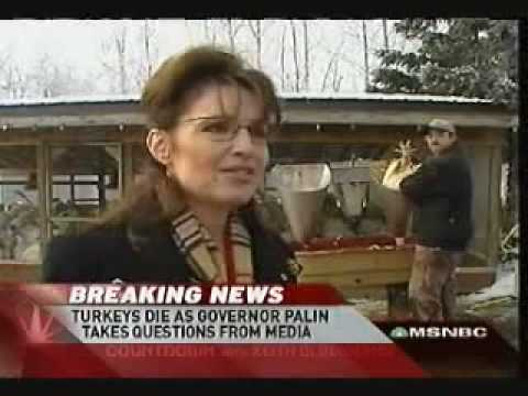 Sarah Palin Pardons Thanksgiving Turkey While Slaughtering in Background