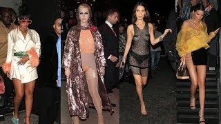 Rihanna, Zendaya, Bella Hadid & MORE Celebs STUN In Met Gala After-Party Looks