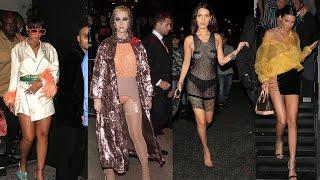 Rihanna, Zendaya, Bella Hadid & MORE Celebs STUN In Met Gala After-Party Looks