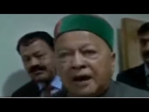 Himachal CM Virbhadra Singh Threatens A Journalist | Caught On Camera