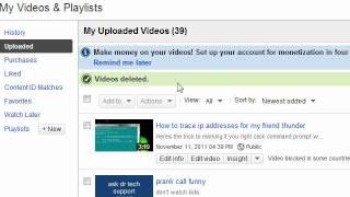 How to delete YouTube videos 2012