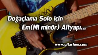 Mi minör Solo Altyapısı #1 - Backing Track For Jam in Em
